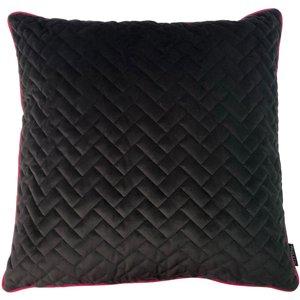 Paoletti Tetris Quilted Cushion Black/hot Pink 770tet/cc8/blhp Living Room, Black/Hot Pink