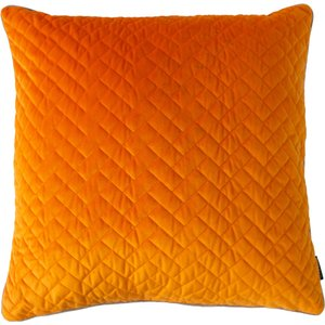 Paoletti Tetris Quilted Cushion Clementine/dove 770tet/cc8/cldo Living Room, Clementine/Dove