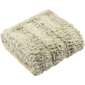 Furn. Tundra Faux Fur Throws Natural Tundra/th1/nat Furniture Accessories, Natural