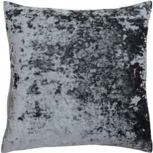 Paoletti Verona Crushed Velvet Cushion Pewter Verona/cc8/pet Living Room, Pewter