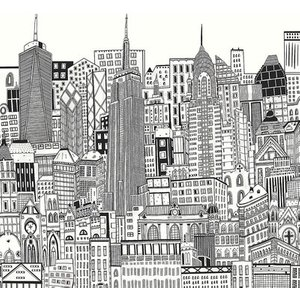 Art For The Home Mural City Sketch 113159 Diy