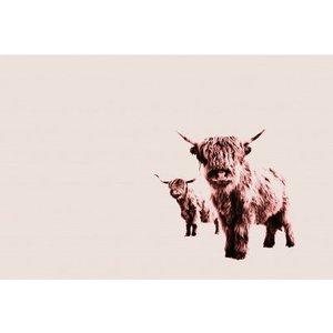 Artist Mural Highland Cows 119829 Diy