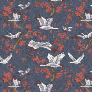 Brewers Wallpaper Crane & Blossom 33500 Diy