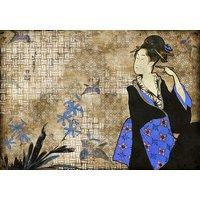 Coordonne Mural Geisha Graffiti 8000037 Diy