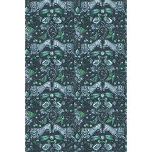 Emma J Shipley Fabric Extinct Velvet F1208/01 Diy