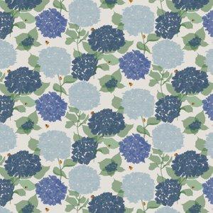 Lorna Syson Wallpaper Hydrangea Hyw Diy