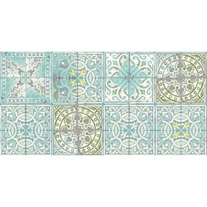 Louise Body Wallpapers Patchwork Jade, Patchwork Jade Painting & Decorating