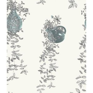 Louise Body Wallpapers Traily Plant Grey, Traily Plant Cream Painting & Decorating