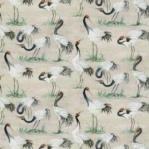 Osborne & Little Wallpaper Cranes W7456-01 Diy