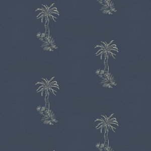 Paint & Paper Library Wallpaper Lighthouse Palm 0393lpbluep Diy