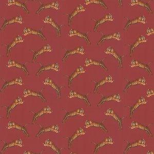 Paloma Home Wallpaper Pouncing Tigers Pou/red/wp Diy
