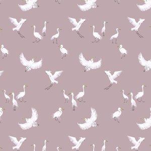 Petronella Hall Wallpaper Egrets E-wp Diy