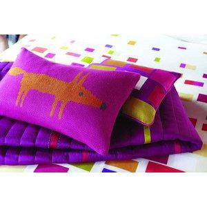 Scion Cushions Mr Fox Cerise Knitted Cushion, 317020 Furniture Accessories