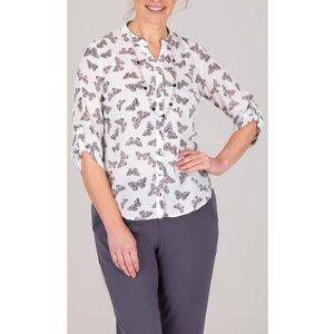 Anna Rose Butterfly Print Blouse - White/black - 10 White Black Q9rcms1186010 Womens Tops, WHITE BLACK