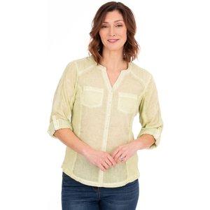 Klass Washed Cotton Blouse - Pale Lime - 22 39d4ss1d82022 Womens Tops, PALE LIME
