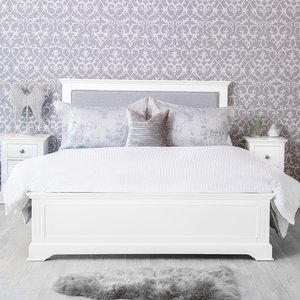Chiltern Oak Furniture Banbury White Painted King Size Bed Frame Bp 50 W Beds, White Painted