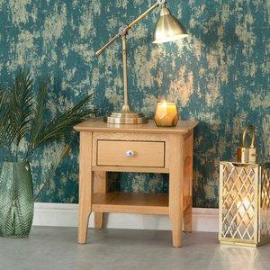 Chiltern Oak Furniture Bergen Oak Lamp Table Natural Oak Nt Lt Tables, Natural Oak