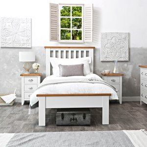 Chiltern Oak Furniture Chester White Painted Oak Single Bed Frame Nc 30 W Beds, White Painted