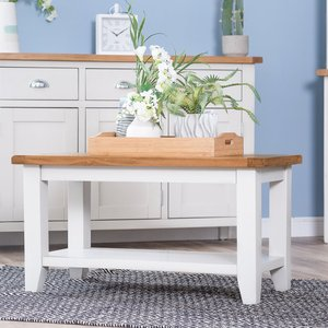 Chiltern Oak Furniture Chester White Painted Oak Small Coffee Table Nc Sct W Tables, White Painted