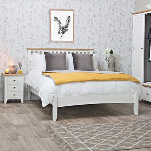 Chiltern Oak Furniture Gloucester White Painted Double Bed Frame Ga 46 W Uk Beds, White Painted