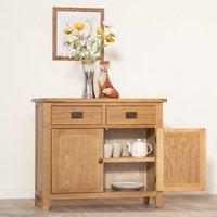 Chiltern Oak Furniture Rustic Oak 2 Door Medium Sideboard Nc Sts Oak Storage, Oak