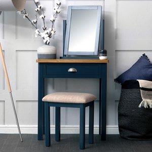 Chiltern Oak Furniture Rutland Blue Painted Oak Dressing Table Ra Dt B Tables, Blue Painted