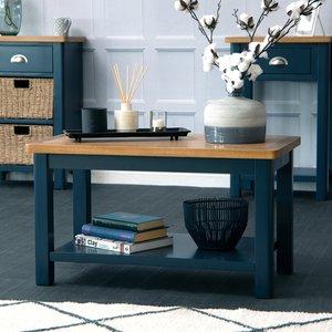 Chiltern Oak Furniture Rutland Blue Painted Oak Small Coffee Table Ra Sct B Tables, Blue Painted