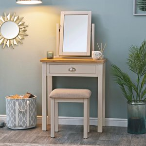 Chiltern Oak Furniture Rutland Painted Oak Dressing Table Stone Painted Ra Dt Tr Tables, Stone Painted