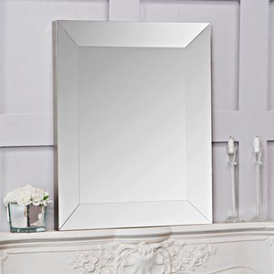 Chiltern Oak Furniture Sofia Small Silver Bevelled Mirror 60 X 75cm  Mir16 S House Accessories