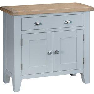 Chiltern Oak Furniture Suffolk Grey Painted Oak 2 Door Mini Sideboard Tt Sms G Storage, Grey Painted