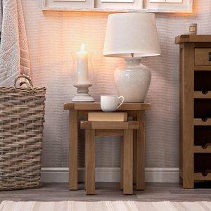 Chiltern Oak Furniture Winchester Oak Nest Of 2 Tables Co N2t, Oak
