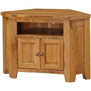 Elegant Furniture Acorn Corner Wooden Tv Stand In Light Oak Acortvcor.hl
