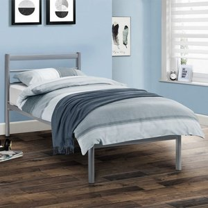 Elegant Furniture Alpen Metal Double Bed In Aluminium Effect Alp002.jb
