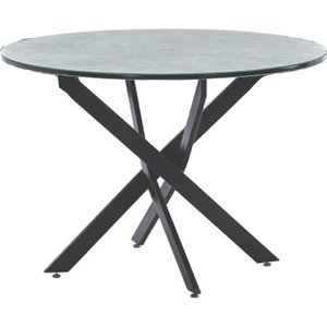Elegant Furniture Ascot Wooden Round Dining Table In Marble Effect With Black Metal Legs Ascotab.hf