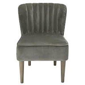Elegant Furniture Bella Velvet Bedroom Chair In Steel Grey Belchagrey.lpd