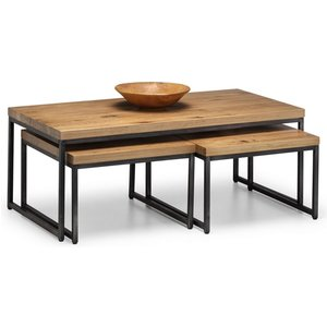 Elegant Furniture Brooklyn Wooden Nesting Coffee Tables In Oak Bro004.jb