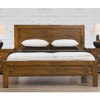Elegant Furniture California Solid Rubberwood King Size Bed In Rustic Oak Caliks.hf