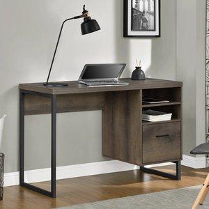Elegant Furniture Candon Wooden Computer Desk In Brown 9892096comuk.dr