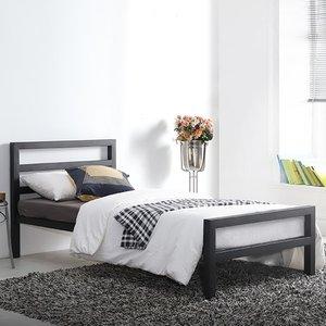 Elegant Furniture City Block Metal Single Bed In Black Cit3 Blk.tl