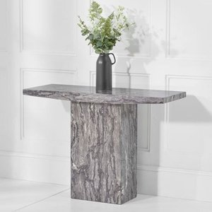 Elegant Furniture Coruna Marble Console Table In Grey High Gloss Pt33419.mh