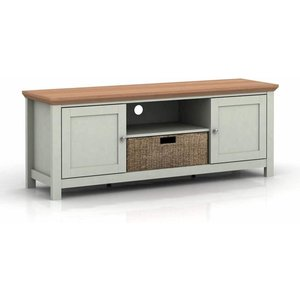 Elegant Furniture Cotswold Wooden Tv Stand In Grey And Oak With 2 Doors Cotstvgrey.lpd