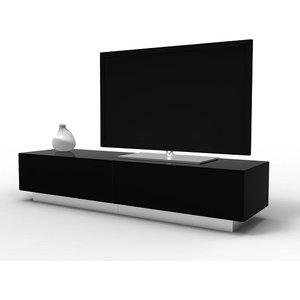 Elegant Furniture Element Large Tv Stand In Black With Glass Door Emtmod1700 Blk.ap