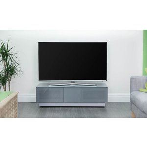 Elegant Furniture Element Tv Stand In Grey With 2 Glass Doors Emtmod1250 Gry.ap