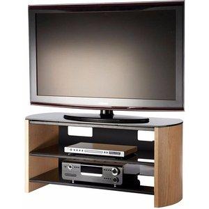 Elegant Furniture Finewoods Medium Wooden Tv Stand In Light Oak Fw1100 Lo/b.ap
