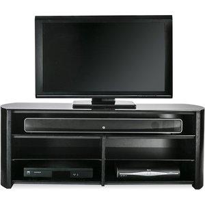 Elegant Furniture Finewoods Wooden Tv Stand In Black Oak With Sound Bar Shelf Fw1350sb Blk.ap