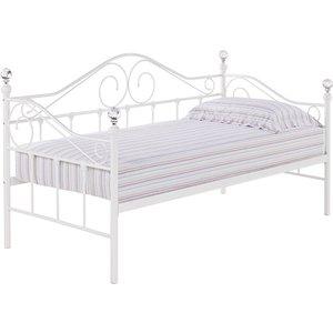 Elegant Furniture Florence Metal Day Bed In White Dayflorenwhi.lpd