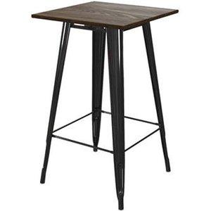 Elegant Furniture Fusion Square Wooden Bar Table In Black 2286059uk.dr