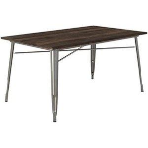 Elegant Furniture Fusion Wooden Rectangular Dining Table In Antique Gun Metal 2139459uk.dr