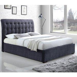 Elegant Furniture Hamilton Fabric Upholstered Double Bed In Dark Grey Hamil46dgrey.tl