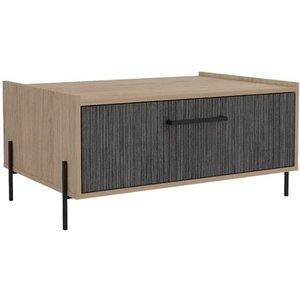 Elegant Furniture Harvard Wooden Storage Coffee Table In Washed Oak Hr902.cop